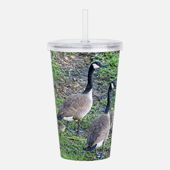 Family of Geese Acrylic Double-wall Tumbler