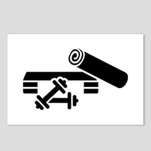 Aerobics step barbell dum Postcards (Package of 8)