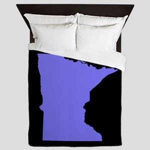 minnesota purple black Queen Duvet