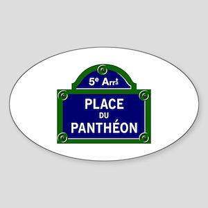 Place du Panthéon, Paris - France Oval Sticker