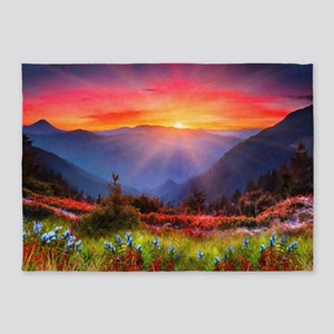 High Country Sunset 5'x7'Area Rug