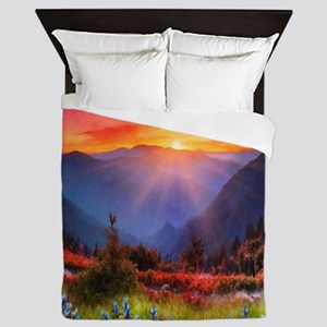 High Country Sunset Queen Duvet
