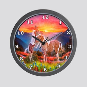High Country Sunset Wall Clock