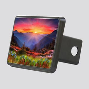 High Country Sunset Rectangular Hitch Cover