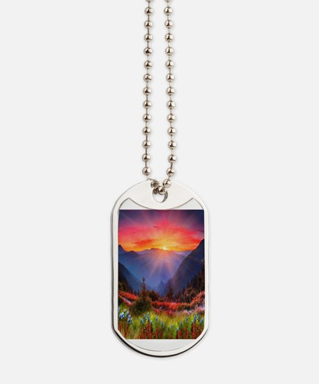 High Country Sunset Dog Tags