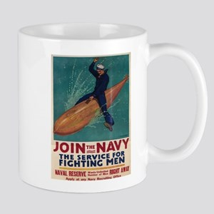 Vintage poster - Join the Navy Mugs