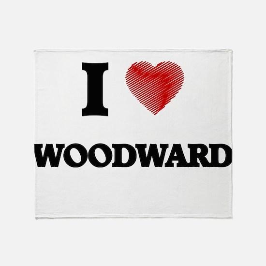 I Love Woodward Throw Blanket