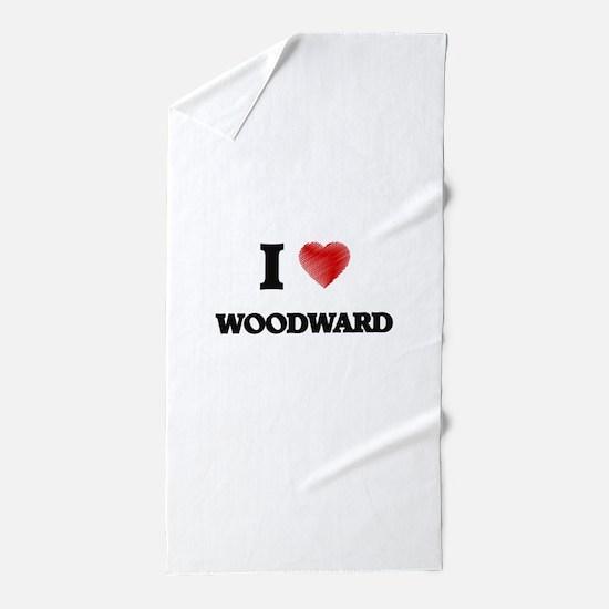 I Love Woodward Beach Towel