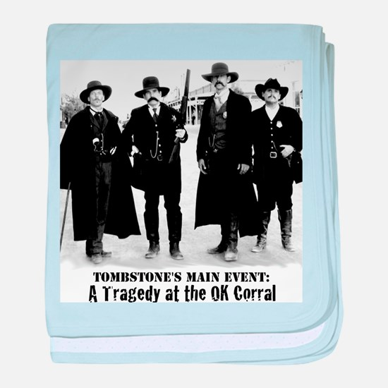 Earps and Doc Holliday in Tombstone, baby blanket