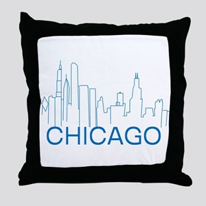 Chicago Blue Line Throw Pillow