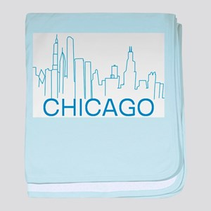 Chicago Blue Line baby blanket