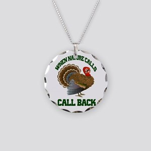 Turkey Call Necklace Circle Charm