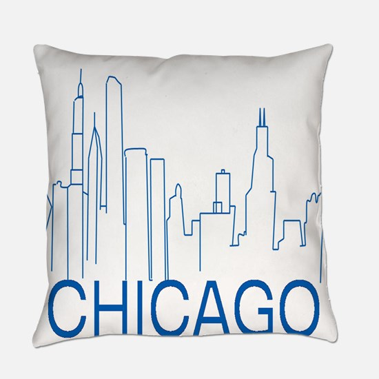 Chicago Blue Line Everyday Pillow
