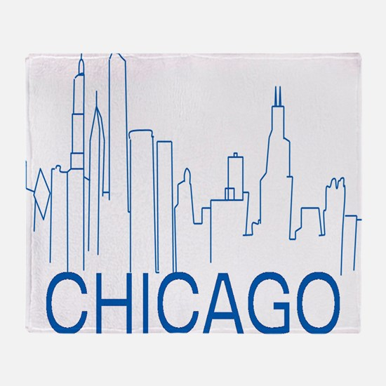 Chicago Blue Line Throw Blanket