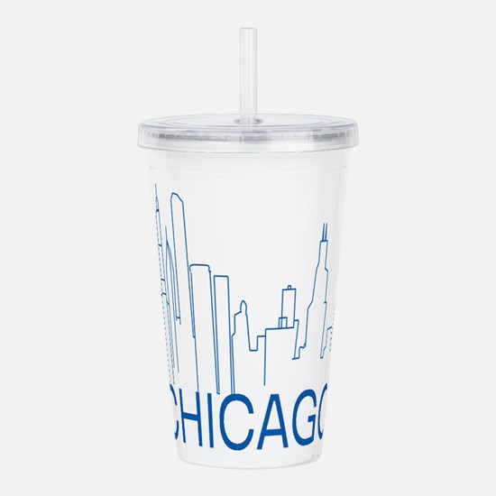 Chicago Blue Line Acrylic Double-wall Tumbler