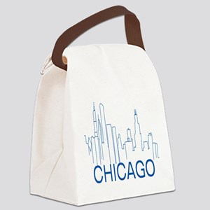 Chicago Blue Line Canvas Lunch Bag