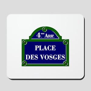 Place des Vosges, Paris - France Mousepad