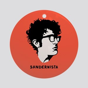 Young Sandernista Round Ornament