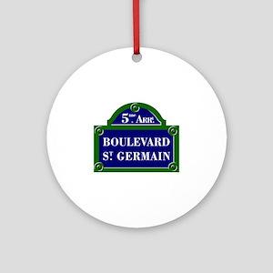 Boulevard St. Germain, Paris - France Ornament (Ro