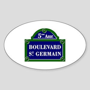 Boulevard St. Germain, Paris - France Sticker (Ova