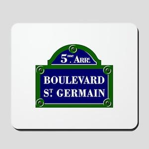 Boulevard St. Germain, Paris - France Mousepad