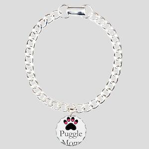 Puggle Dog Mom Paw Print Bracelet