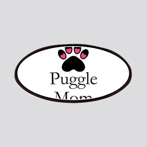 Puggle Dog Mom Paw Print Patch