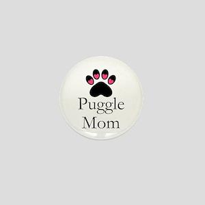 Puggle Dog Mom Paw Print Mini Button
