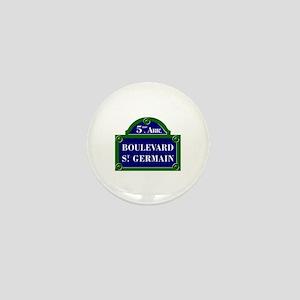 Boulevard St. Germain, Paris - France Mini Button
