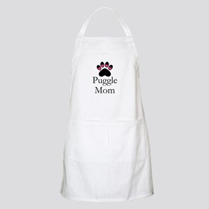 Puggle Dog Mom Paw Print Apron
