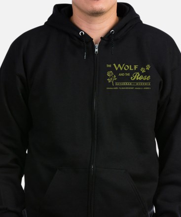THE WOLF AND THE ROSE Zip Hoodie
