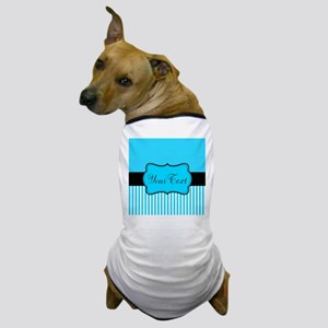 Personalizable Teal White Black Dog T-Shirt