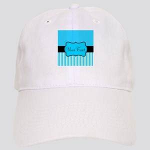 Personalizable Teal White Black Baseball Cap