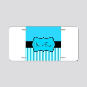 Personalizable Teal White Black Aluminum License P