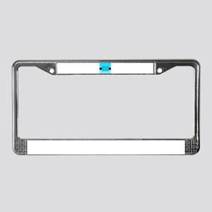 Personalizable Teal White Black License Plate Fram
