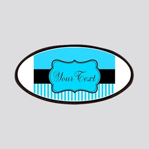 Personalizable Teal White Black Patch