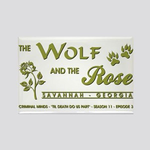 THE WOLF AND THE ROSE Magnets