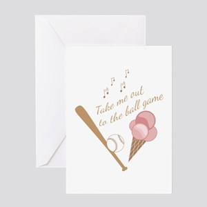To The Ball Game Greeting Cards