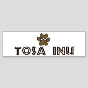 Tosa Inu (dog paw) Bumper Sticker
