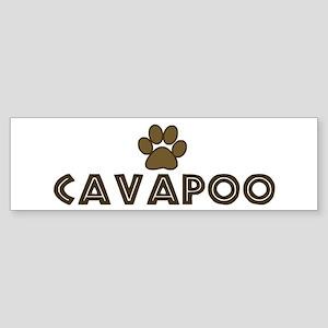Cavapoo (dog paw) Bumper Sticker