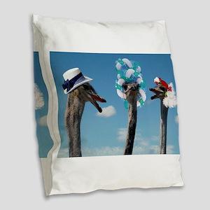 Hat Day at Ascot Burlap Throw Pillow