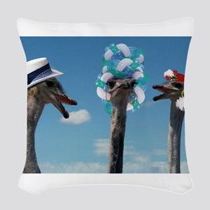 Hat Day at Ascot Woven Throw Pillow