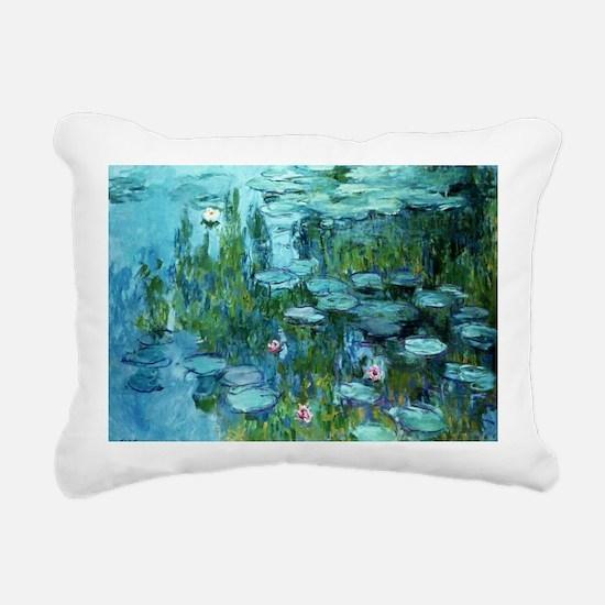 Cool Water lilies Rectangular Canvas Pillow