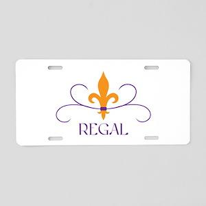 Regal Fleur Aluminum License Plate