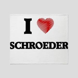 I Love Schroeder Throw Blanket