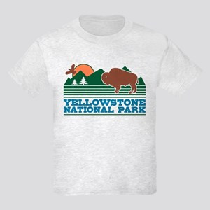 Yellowstone National Park Kids Light T-Shirt