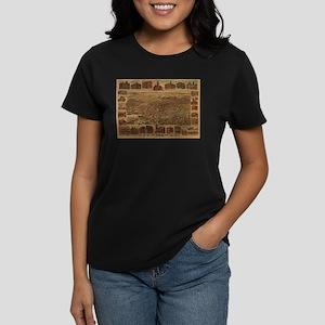 1891. Antique LA Map Women's Dark T-Shirt