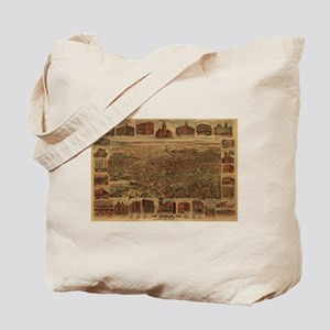 1891. Antique LA Map Tote Bag