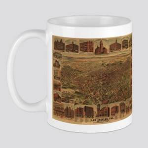 1891. Antique LA Map Mug