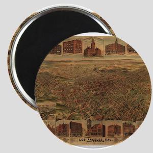 1891. Antique LA Map Magnet
